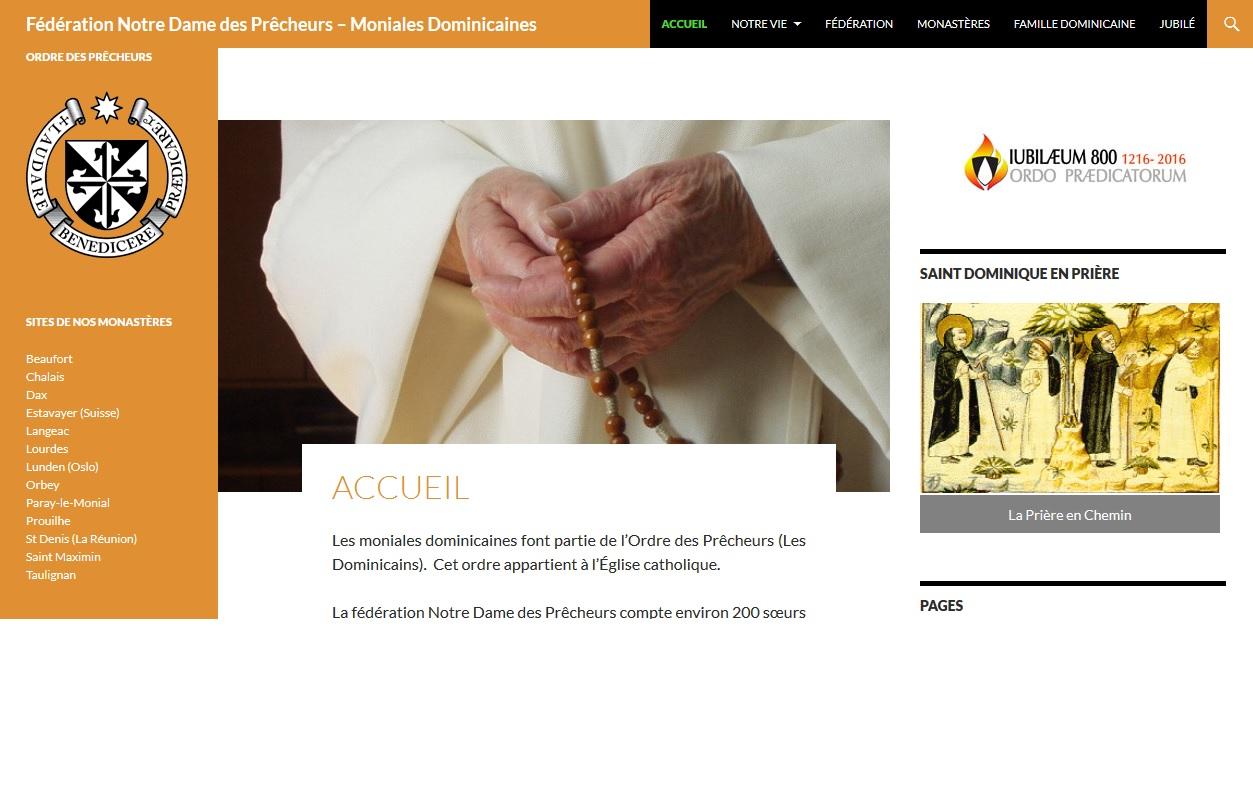 Site de la Fédération Notre dame des Prêcheurs