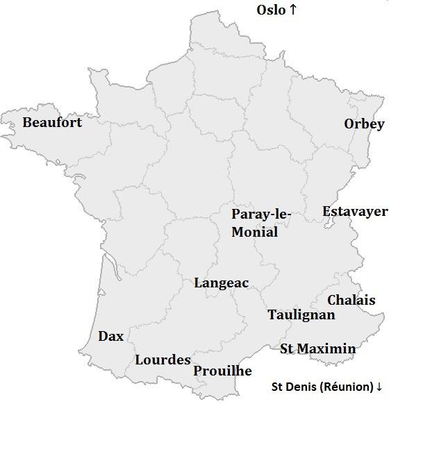Carte avec les monastères